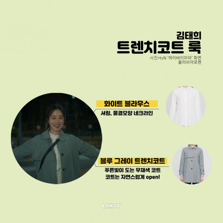 하이바이마마, 김태희 트렌치코트 룩
