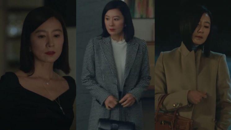 출근룩으로 활용 만점! '부부의 세계' 김희애 패션