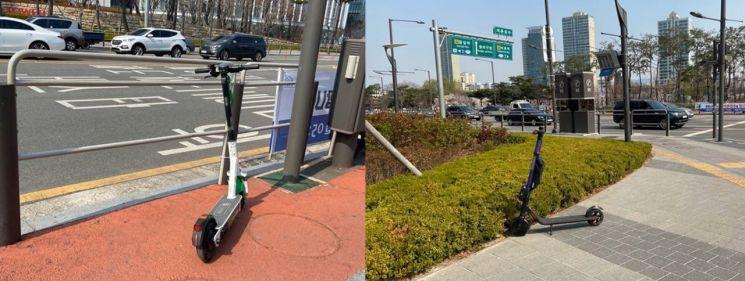 거리의 무법자 공유 킥보드…아무데나 주차 '민폐'