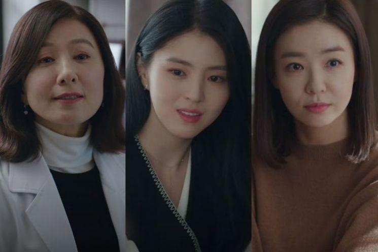 배우 김희애, 한소희, 박선영. 사진=JTBC '부부의 세계' 방송 화면
