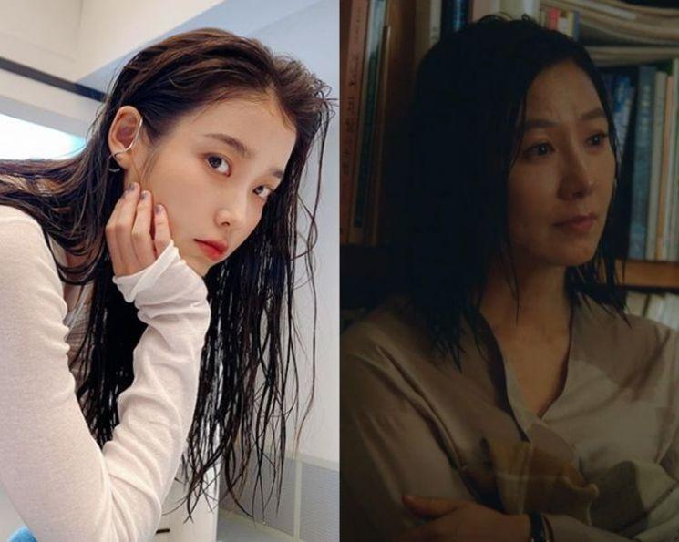 가수 겸 배우 아이유, 김희애. 사진=아이유 인스타그램, JTBC '부부의 세계' 방송 화면