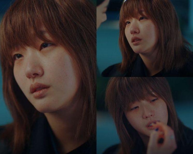 '더 킹: 영원의 군주'에서 루나 역을 연기하는 김고은