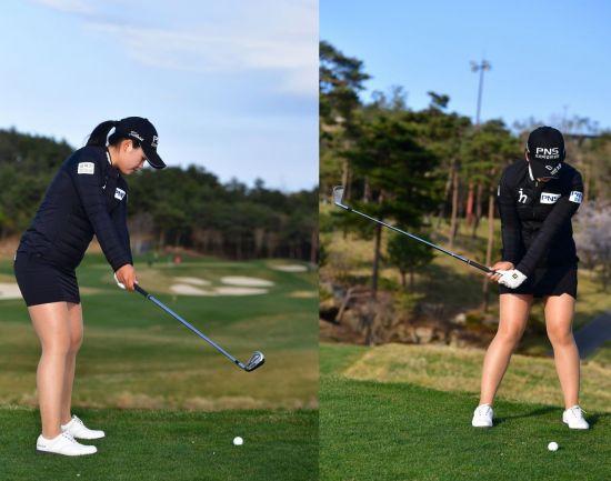<사진1> 왼쪽은 공과 너무 멀고, 오른쪽은 상대적으로 가깝다(X).
