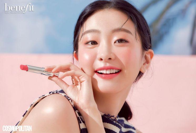 김다미, 4색 립 메이크업