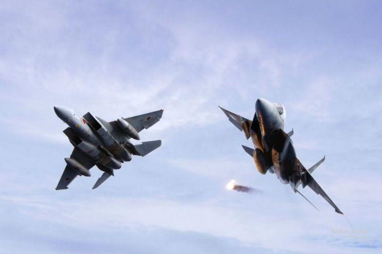 일본 항공자위대의 주력 전투기 'F-15J'001 F-15J는 유사시 독도 상공에서 한일간에 공중전이 벌어지면 우리 공군이 가장 먼저 상대해야 할 전투기로 손꼽힌다. 사진=일본 항공자위대