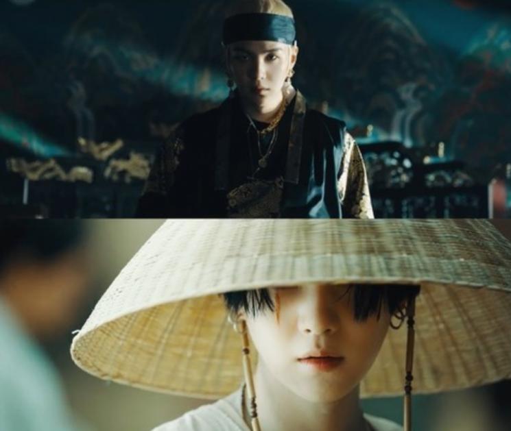 그룹 방탄소년단 멤버 슈가는 두 번째 믹스테이프 'D-2'를 22일 공개했다. 타이틀곡 '대취타' 뮤직비디오의 한 장면/사진='대취타' 뮤직비디오 캡쳐