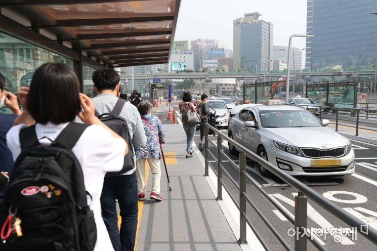 [포토]택시 마스크 착용 의무화