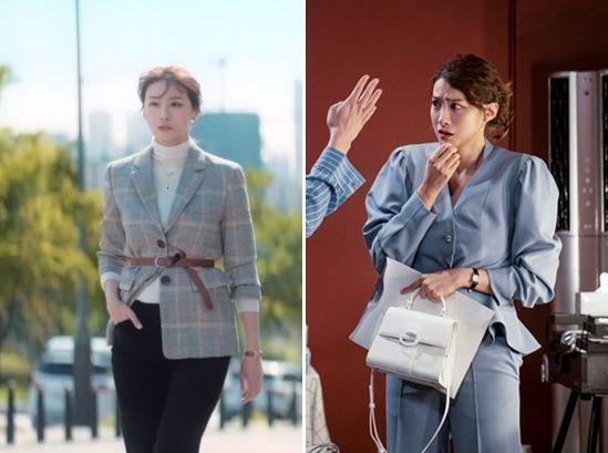 유인영의 재킷, 블라우스 스타일링. 사진=SBS '굿캐스팅' 화면, SBS '굿캐스팅' 홈페이지