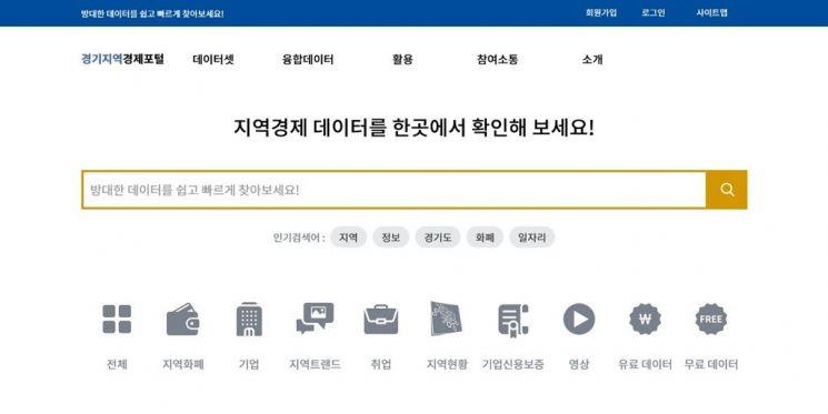 경기도, 지역경제 빅데이터 81종 일반에 공개한다