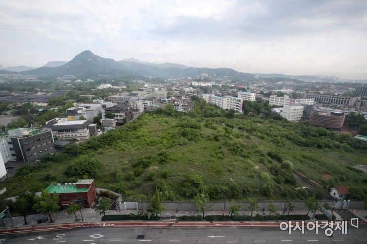 대한항공이 보유한 송현동 부지/사진=아시아경제