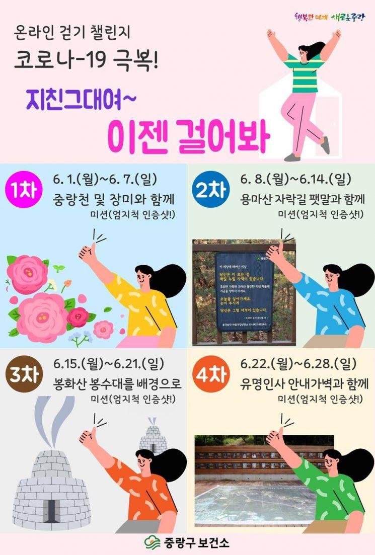 중랑구 '온라인 걷기 챌린지' 진행