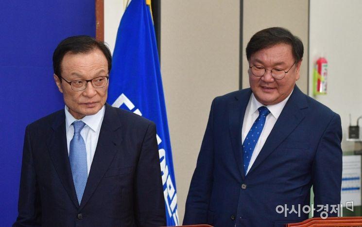 [포토] 회의 참석하는 이해찬·김태년