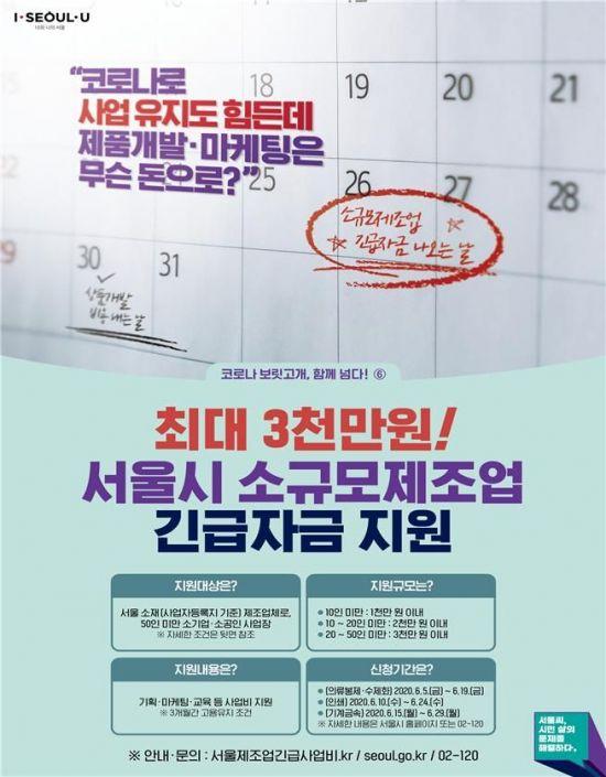 서울 '도시제조업 긴급자금' 16일부터 2차접수 … 41억 추가공모