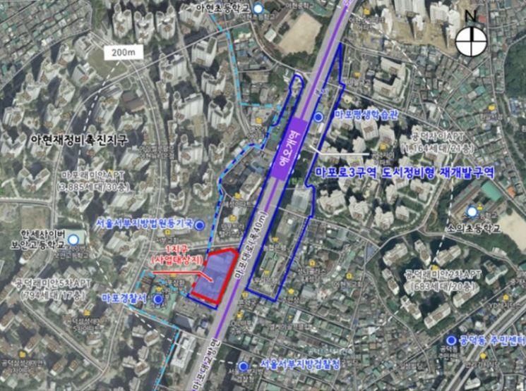 애오개역 인근에 최고 70m 업무·주거·상업 복합시설 들어선다