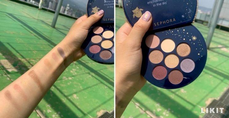 세포라의 'Enchanted sky eyeshadow palette'.