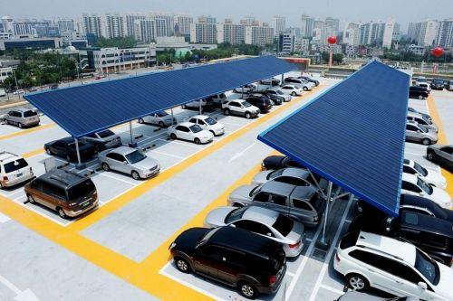 롯데마트 평택점에 설치 돼 있는 태양광 설비 모습. (사진=롯데마트 제공)