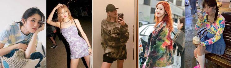 한소희도, 블핑 로제도 입은 '인싸 패턴'! 타이다이 스타일링☆