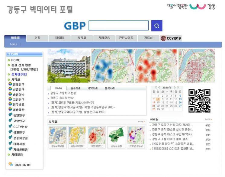강동구 빅데이터 포털 자체 개발...서울시 창의상 수상