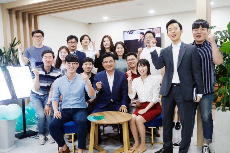 송파ICT청년창업지원센터 입주기업 청년대표들과 함께 (2019.07.01.)