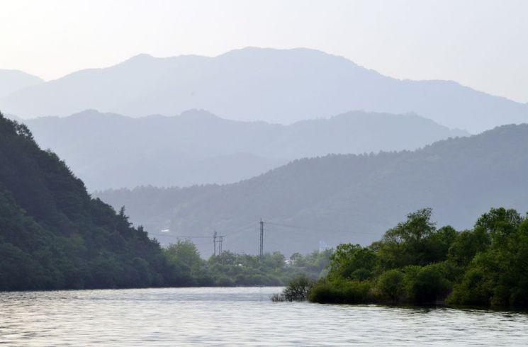 산소100리길에서 바라본 북한강