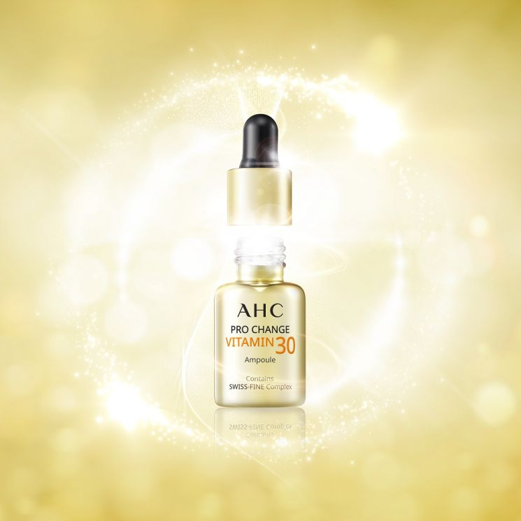 AHC '프로 체인지 비타민 30 앰플'. 사진=AHC