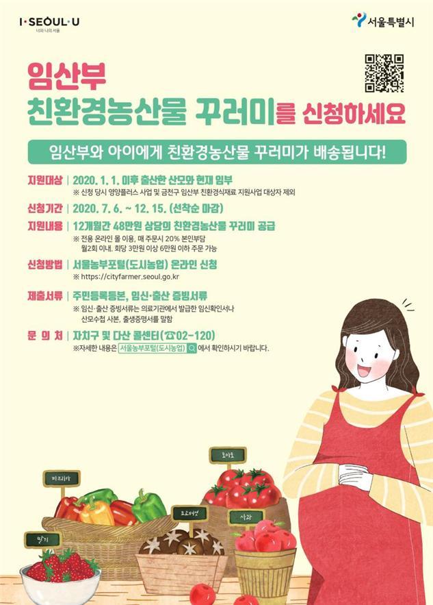 서울 임산부에 일년간 48만원 상당 '친환경농산물 꾸러미' 공급