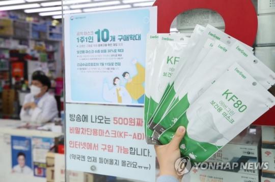 공적 마스크를 판매하고 있는 한 약국. 사진=연합뉴스