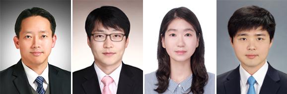 왼쪽부터 최세진 교수, 김성훈, 고혜민, 정원석 교수