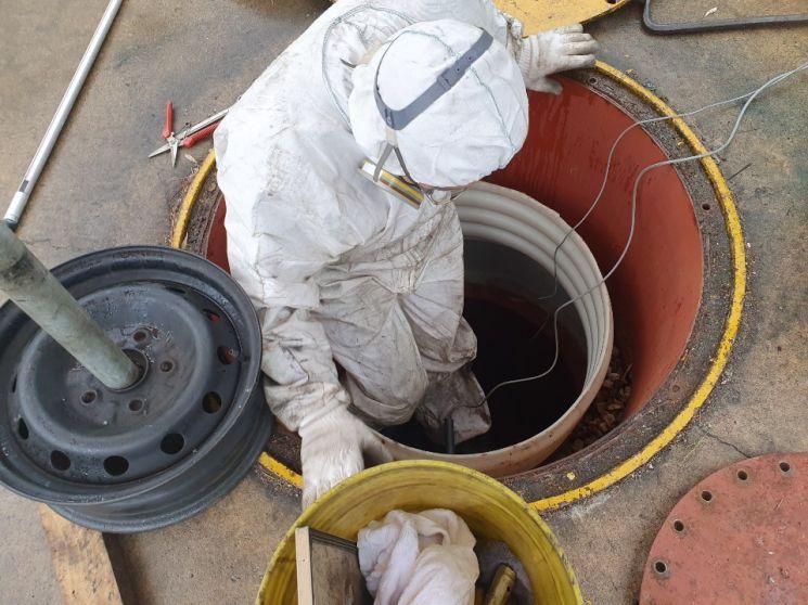 함안(순천방향)주유소 유류탱크 점검