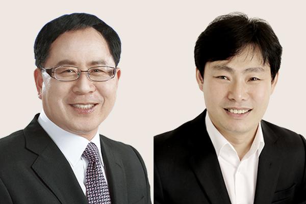 제227회 임시회서 유재구 의장(좌)과 박철원 부의장(우)이 선출됐다.