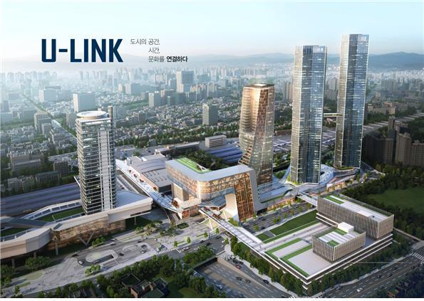한화건설 컨소시엄의 대전역세권 개발사업 조감도 (제공=한국철도공사)