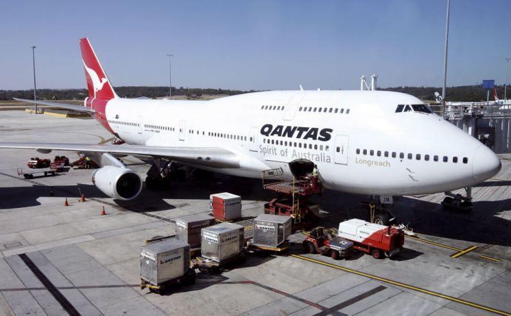 ▲호주 콴타스 항공의 보잉 747기종 [이미지출처=EPA연합뉴스]