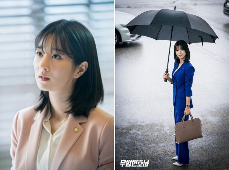 '무법변호사' 속 셋업 수트 스타일링. 사진=tvN 공식 홈페이지
