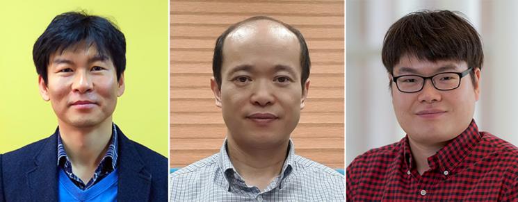이효철 교수(왼쪽부터), 이영민 교수, 김태우 연구원