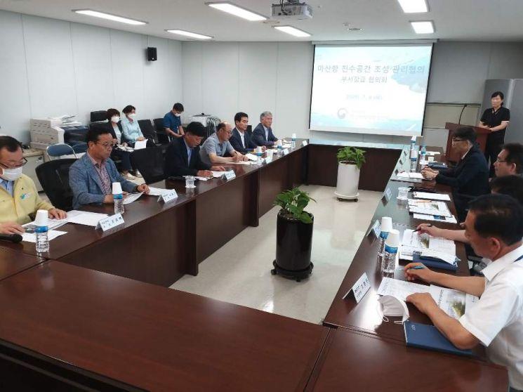 경남 창원시는 9일 마산지방해양수산청과 마산지방해양수산청에서 마산항 친수공간 조성?관리를 위한 공동협의체를 구성하고 향후 발전방향을 모색하기 위한 협의회를 개최했다.(사진=창원시)