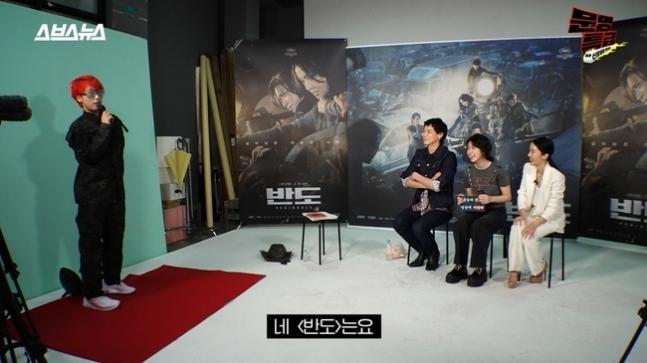 9일 웹예능 '문명특급'에 출연한 배우 강동원, 이레, 이정현/사진=웹예능 '문명특급' 화면 캡처