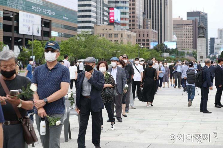 [포토]조문 기다리는 시민들