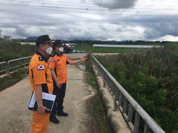 임종복 광주 광산소방서장, 집중호우 피해우려지역 점검