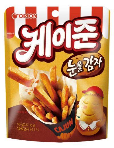 오리온, 패스트푸드점 감자튀김 맛 구현 '케이준 눈을감자' 출시