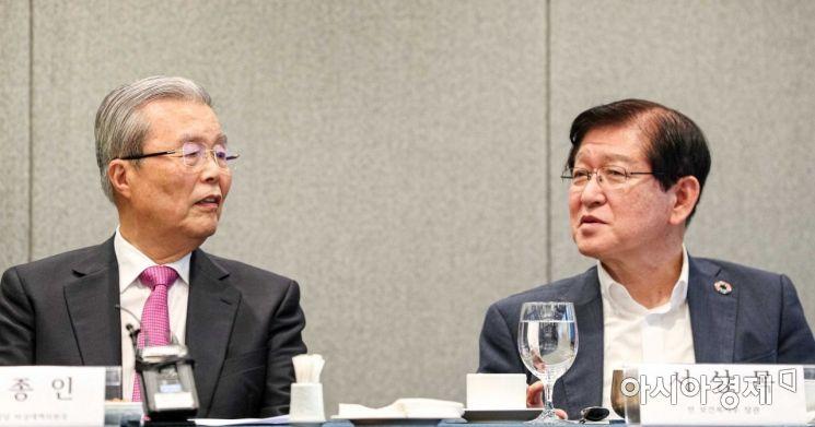 [포토]의견 나누는 김종인 위원장-서상목 전 보건복지부 장관