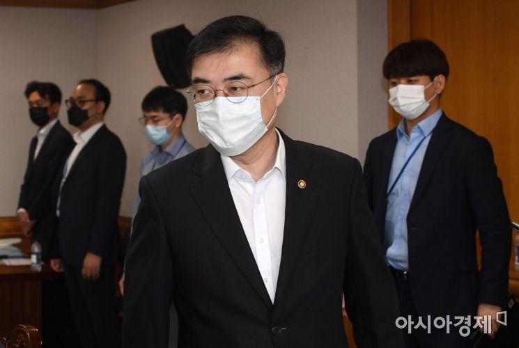 [포토] 금융리스크 대응반회의 참석하는 손병두