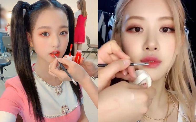 아이즈원 장원영, 블랙핑크 로제. 사진=아이즈원, 로제 인스타그램