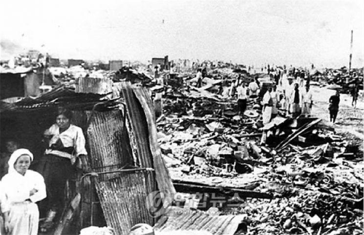 한국전쟁 이후 폐허가 딘 서울의 모습. [사진=한국시멘트협회]