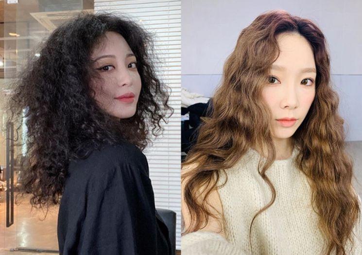 배우 한예슬, 가수 태연. 사진=한예슬, 태연 인스타그램