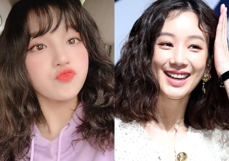 그룹 (여자)아이들 우기, 배우 정려원. 사진=(여자)아이들 인스타그램, 뉴스1