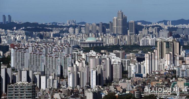 서울 남산에서 바라본 아파트 모습./김현민 기자 kimhyun81@