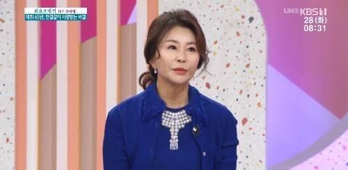 28일 오전 방송된 KBS 1TV '아침마당'의 '화요초대석'에 출연한 가수 진미령이 동안 비결을 언급했다./사진=KBS 1TV '아침마당' 방송 화면 캡처