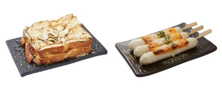인절미토스트(좌), 쌍쌍치즈가래떡(우)/사진=설빙 홈페이지 캡처
