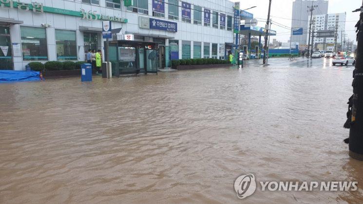 물에 잠긴 천안 [이미지출처=연합뉴스]