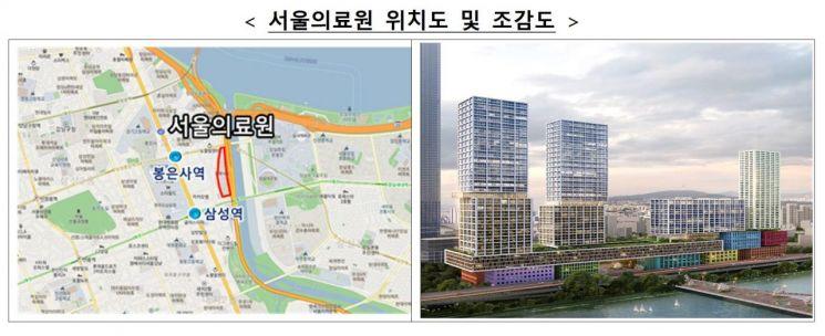 서울의료원 부지 위치도 및 조감도 (제공=국토교통부)
